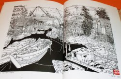 Photo1: TOKYO OLD TOWN - The exact sketch with a ballpoint pen