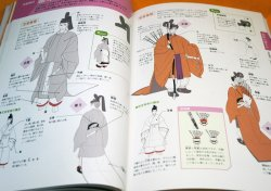 Photo1: How to draw Japanese and European Clothing Book Kimono Yoroi illustration