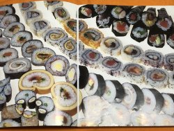 Photo1: Decoration Art Sushi Roll How to Make Japanese Book from Japan